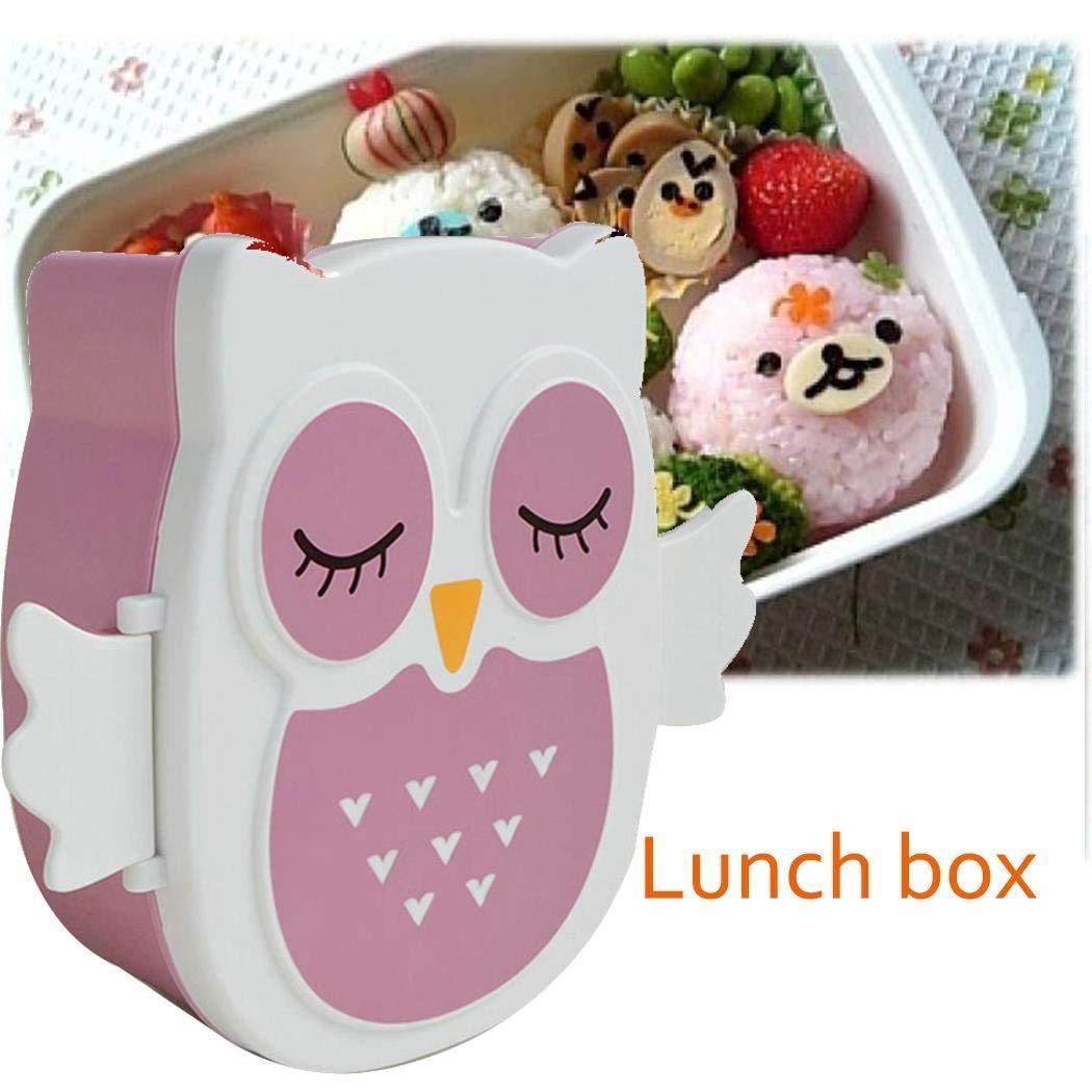 80% off Wekold Brotdose im Eule-Form Vesperdose mit Trennwand Lunchbox Mittagessen
