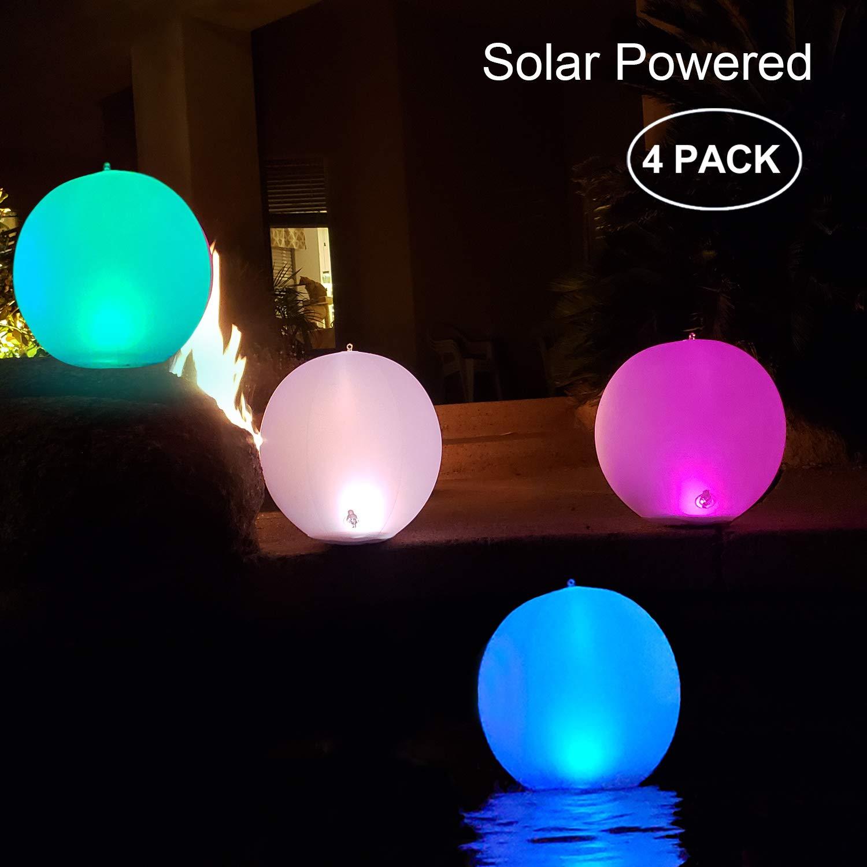 """Solarlampen für außen,14"""" LED Solar Gartenleuchte Kugel Schwimmkugel"""