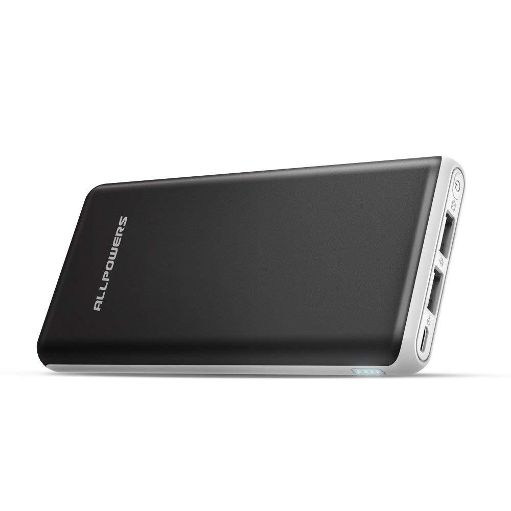 Powerbank ALLPOWERS 20000mAh Externer Akku Handy Ladegerät 2 USB Port