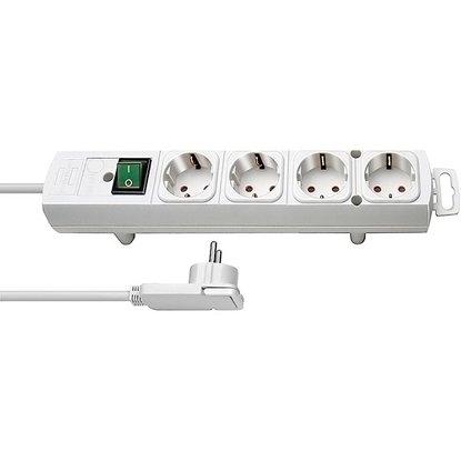 Steckdosenleiste Comfort-Line Plus 4-fach Weiß 2 m