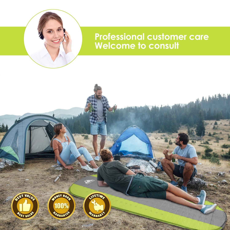 AGM Camping Isomatte, Ultraleichte Isomatte Feuchtigkeitsfest Camping Aufblasbare Luftmatratze- Schlafmatte