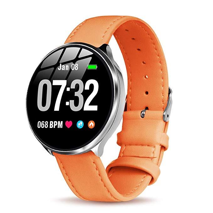 Smartwatch Damen mit Pulsmesser GOKOO Bluetooth Sportuhr