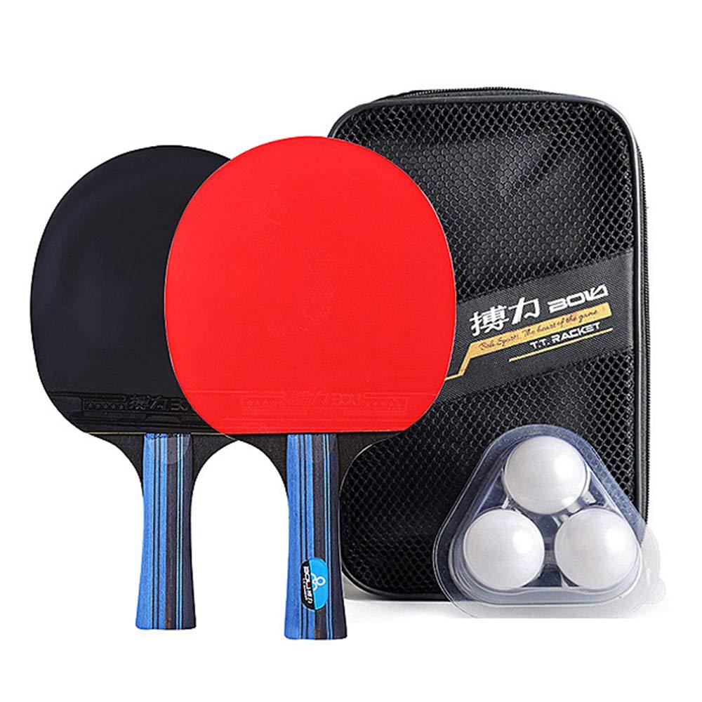 Lixada Tischtennis-Set 2 Tischtennisschläger+3 Ping Pong Balls+Tasche