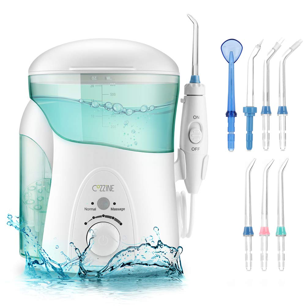 Elektrische Munddusche, Cozzine Professionelle Oral Wasserreiniger 600ml Wassertank Oral Irrigator