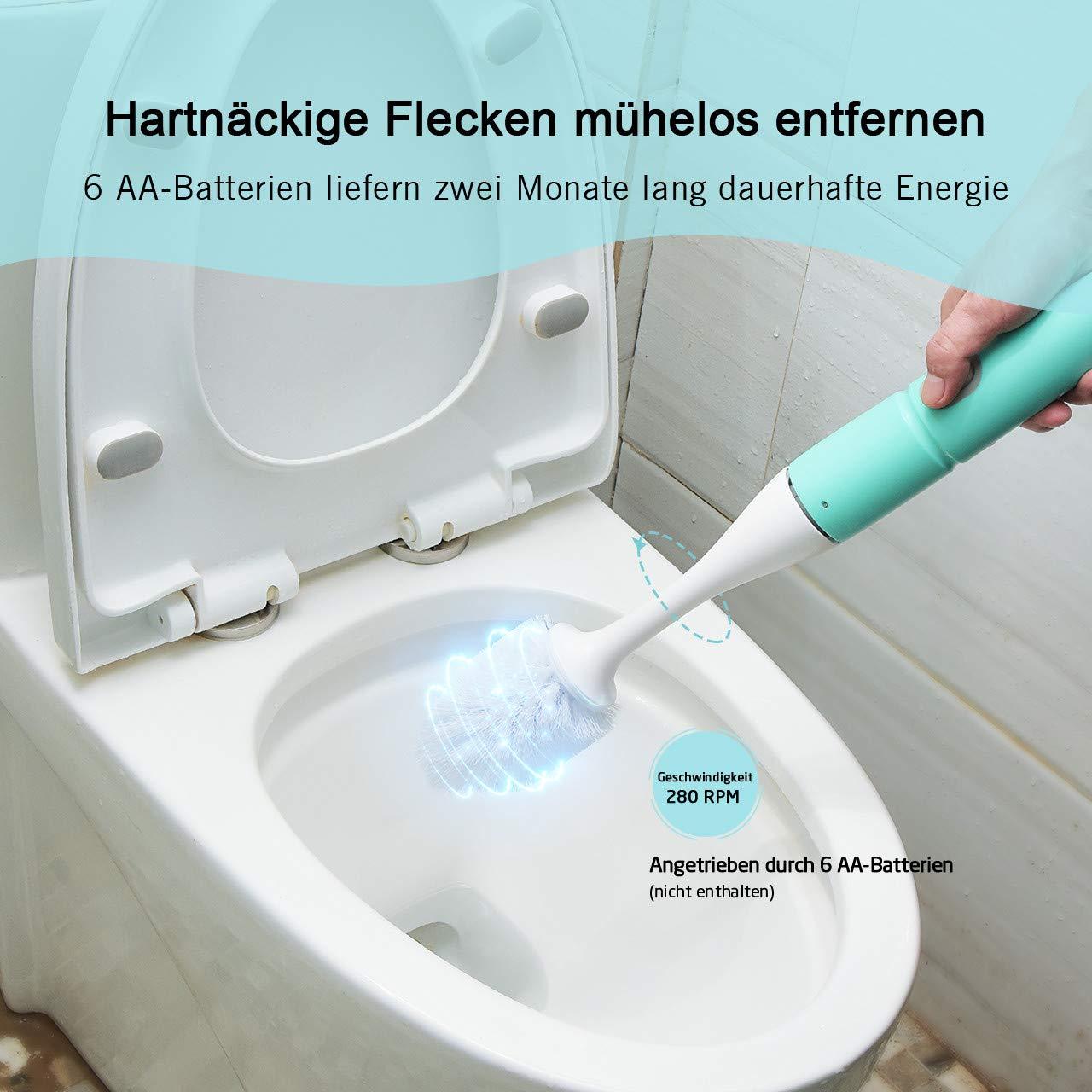 Homitt elektrische Toilettenbürste, Klobürste Weiß, WC Bürste, Toilette Bürste