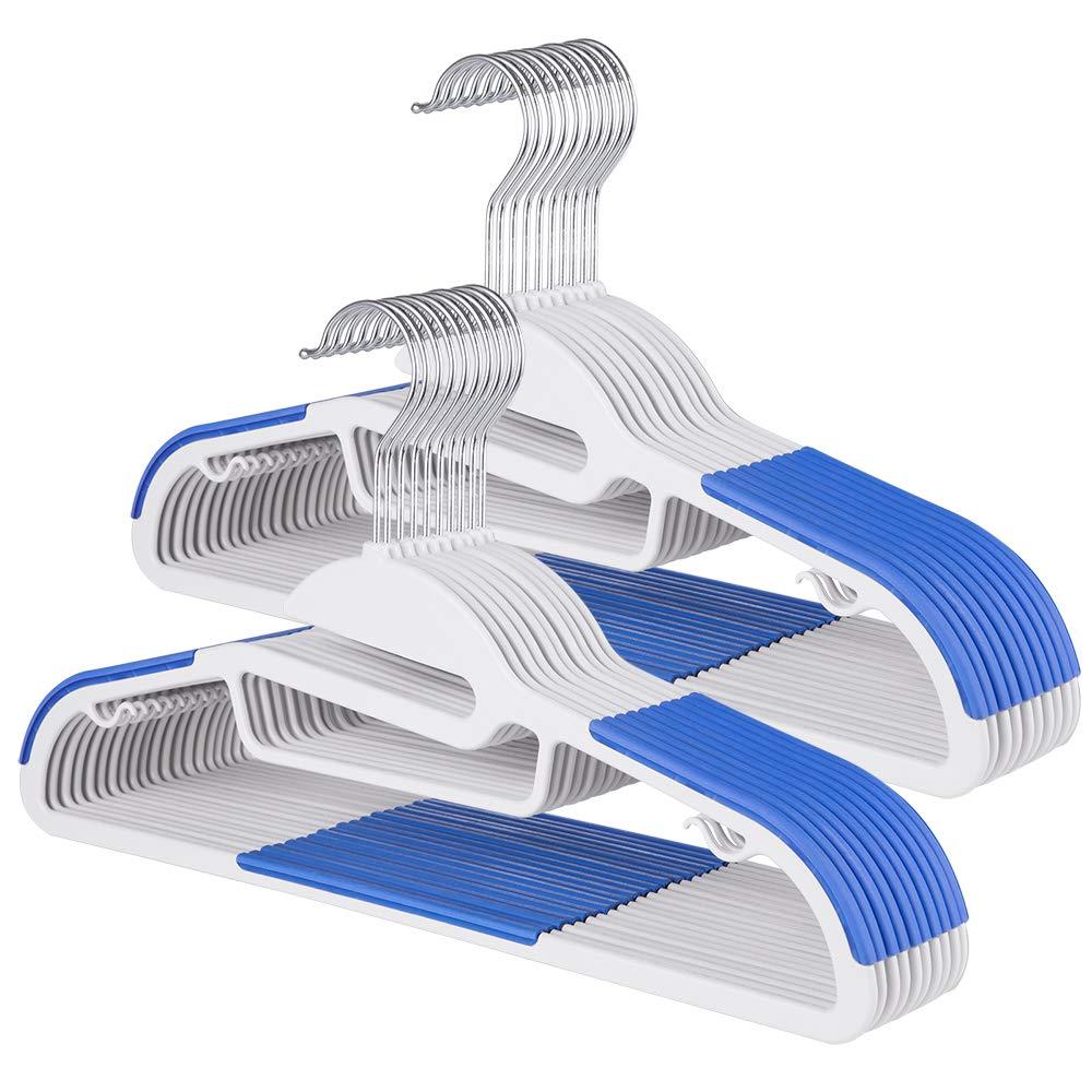 Sable Kleiderbügel 20Stk Anzugbügel ABS Plastik Bügel Antirutsch Multifunktionsbügel