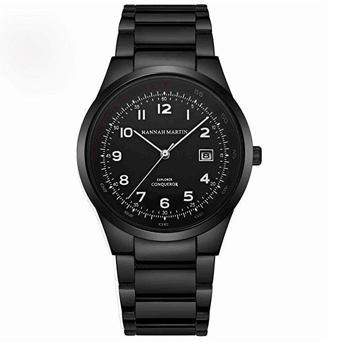 Herren Uhren Analog Quarz Kalender Datumsfenster Wasserdicht Minimalistis mit Edelstahl Armbanduhr