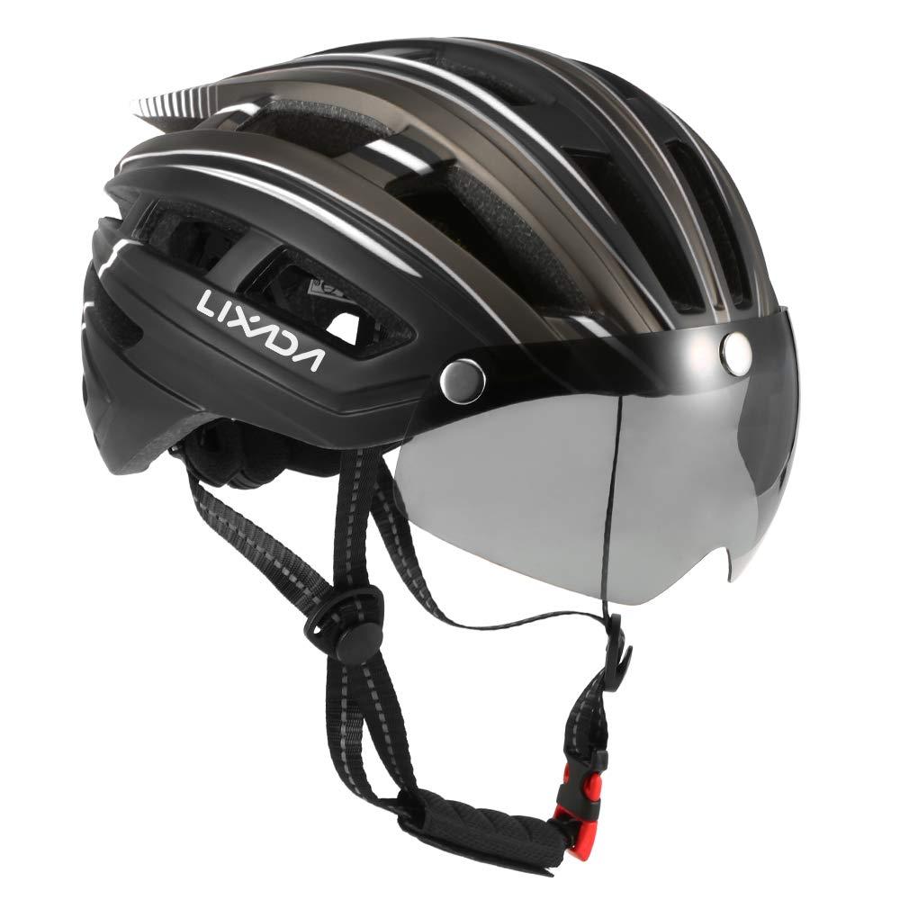 Lixada Mountainbike Helm Motorradhelm Abnehmbares Magnetvisier