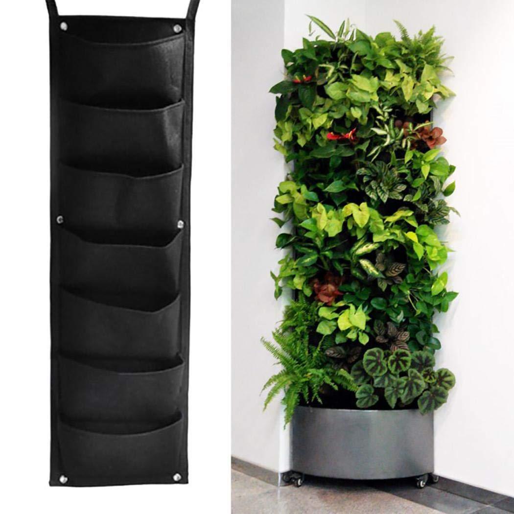80% off 2/3/4/6/7 Tasche hängende vertikale gartenwand pflanzer für Hof Garten hauptdekoration