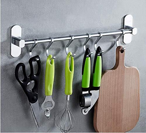 LEBEXY Küchenreling Hängeleiste für Küchenuten mit 6 Haken