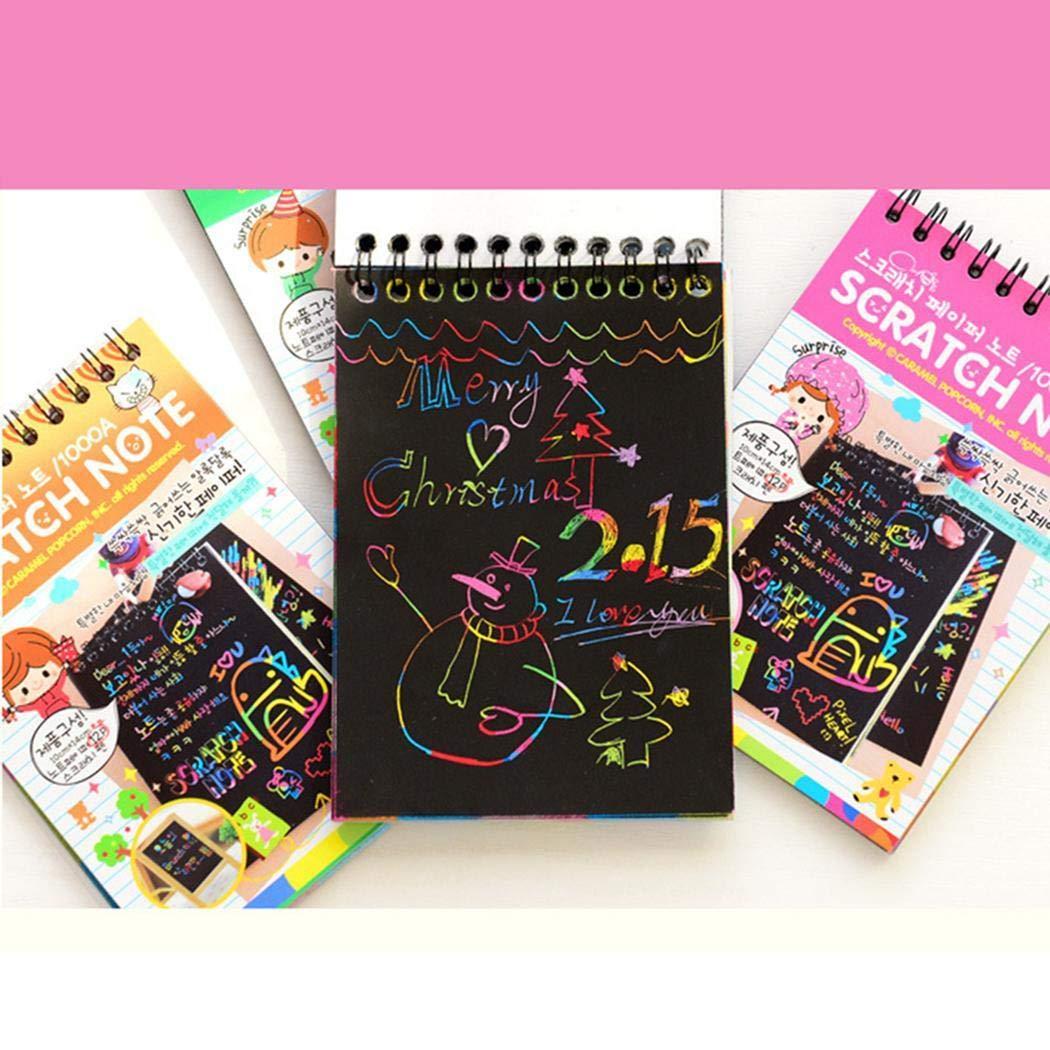 80% off Tragbare DIY Kinder Bildung Malbuch Loose Leaf Scratch Bilderbuch