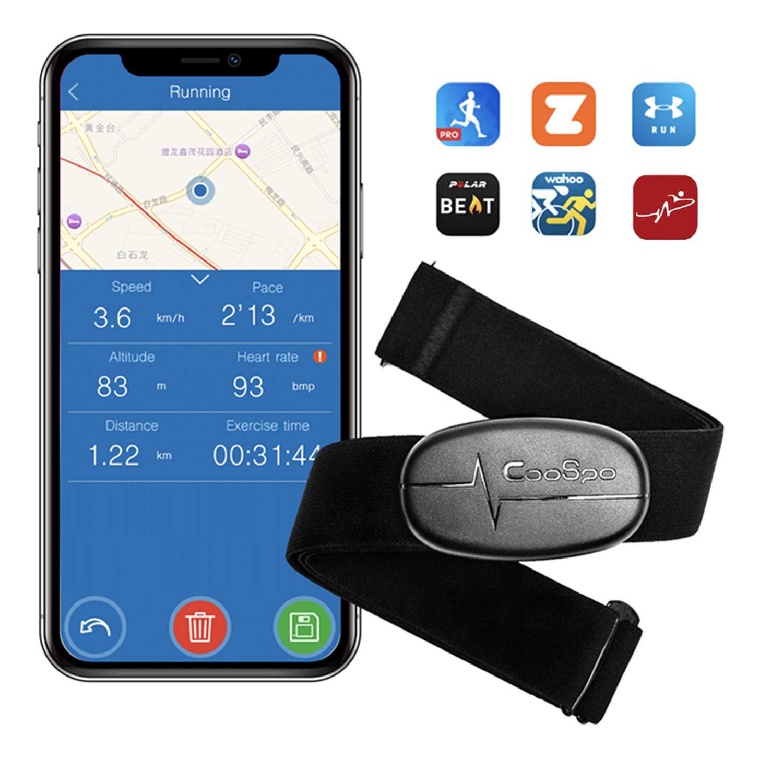 CooSpo Herzfrequenzmesser Brustgurt Bluetooth 4.0 ANT+ Heart Rate Monitor