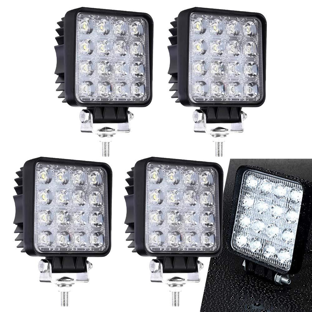 4 Stück LED Arbeitsscheinwerfer Zusatzscheinwerfer Arbeitslicht 48W Scheinwerfer