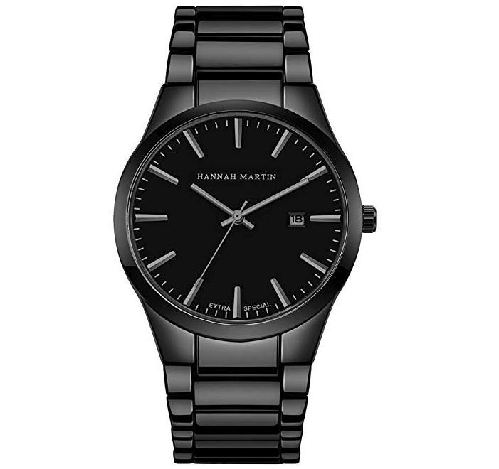 BesWLZ Herren Uhren Schwarz Datum Kalender Analog Quarz Wasserdicht Edelstahl Armbanduhr