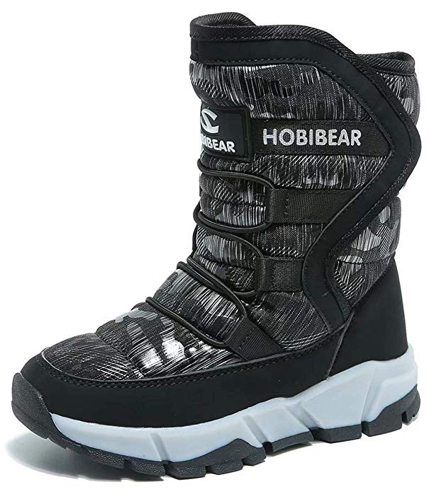 GUBARUN Kinder Winterstiefel Schneestiefel Outdoor Warm Wasserdicht Stiefel