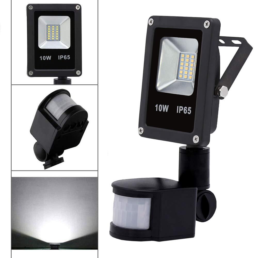 10W LED Strahler mit Bewegungsmelder Fluter IP65 Außenstrahler Wasserdicht
