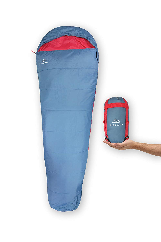 NORDKAMM – Schlafsack Ultraleicht, dünn, leicht, für Erwachsene