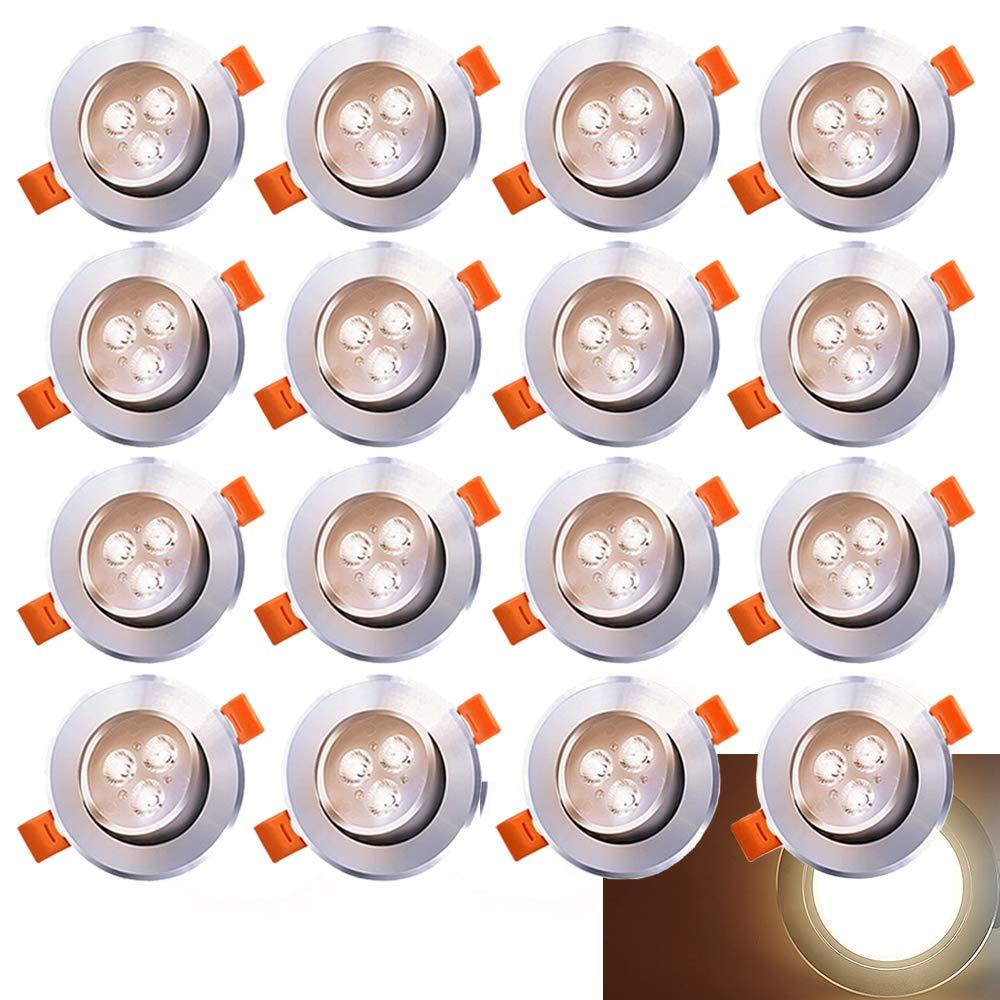 20x LED Einbaustrahler Einbau-Spots Schwenkbar