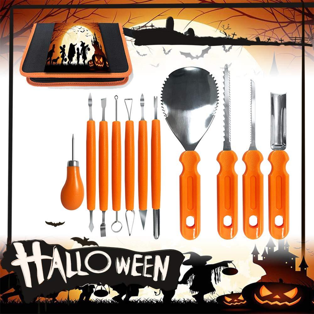 kürbis schnitz Set 12 Stück, Hochleistungs-Carving-Werkzeug aus Edelstahl für Halloween