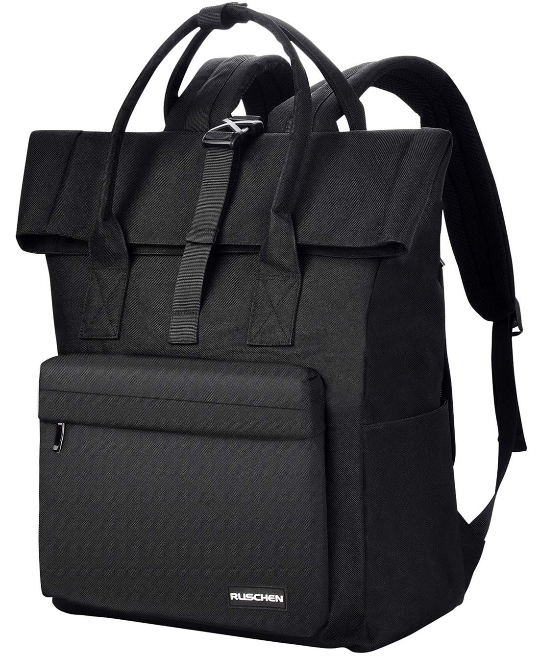 Ruschen Rucksack Damen Herren/Business Rucksäcke aus reißfestem Polyestergewebe