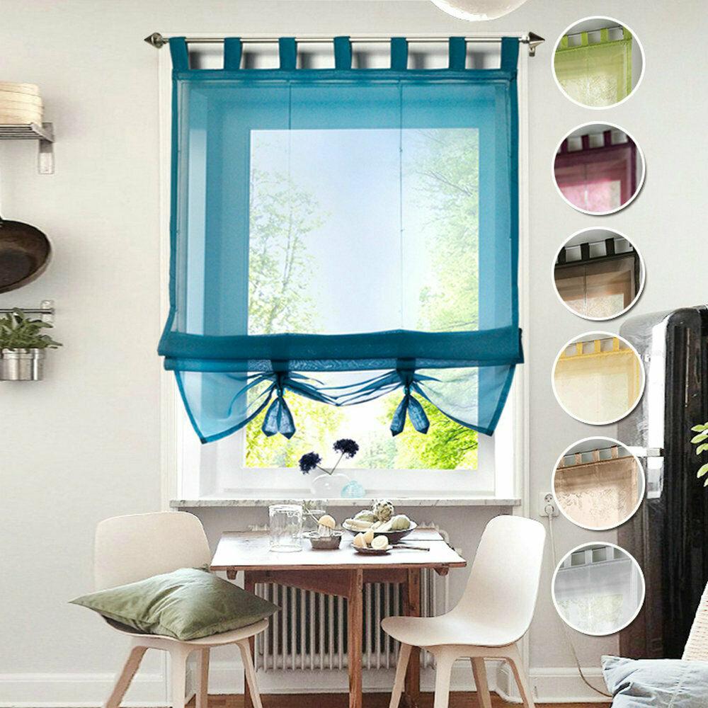 Raffrollo Gardine Vorhang Fenstervorhang Scheibengardinen Voile Transparent