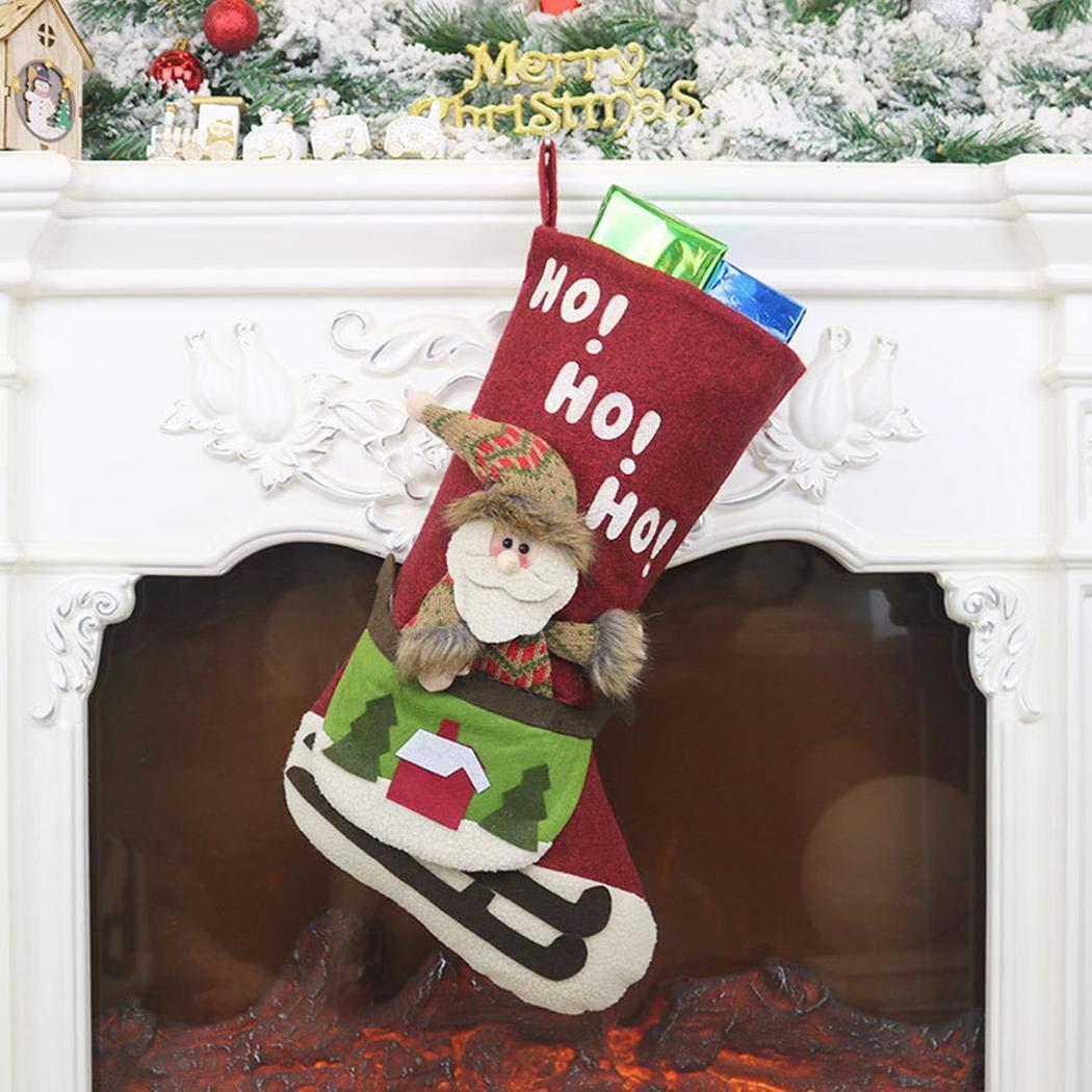 80% off Hauptfestival-Schneemann Santa Plush Faux Fur Cuff Christmas Stockings Christbaumschmuck