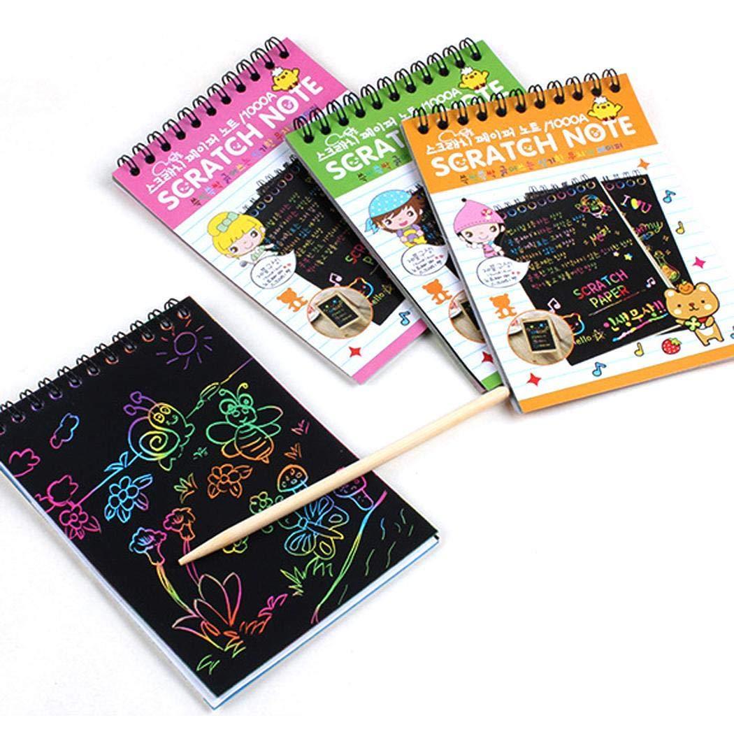 80% off Multicolor Zeichnung schreiben Scratch Paper Notebook