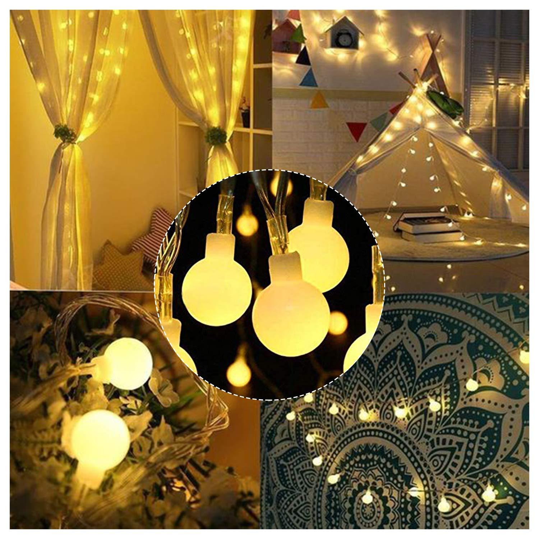 Hengda 13m Globe Lichterkette 100 LED 8 Modi Stimmungslichter