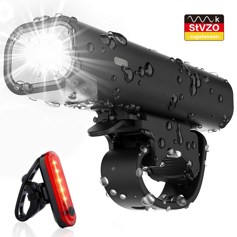 Pezimu Fahrradlicht Set – StVZO Zugelassen LED Fahrradbeleuchtung