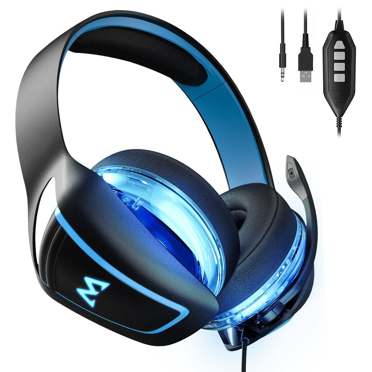 Mpow 7.1 Surround Sound Gaming Headset EG1 0ver Ear Headset Professionell Gaming Kopfhörer