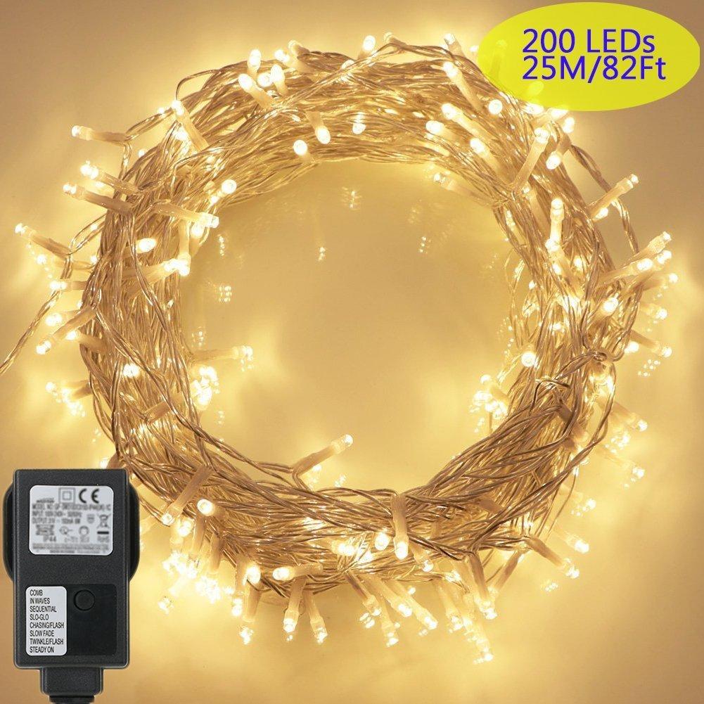 200 LED Lichterkette, Tomshine 23M Lange Lichterkette Steckdose