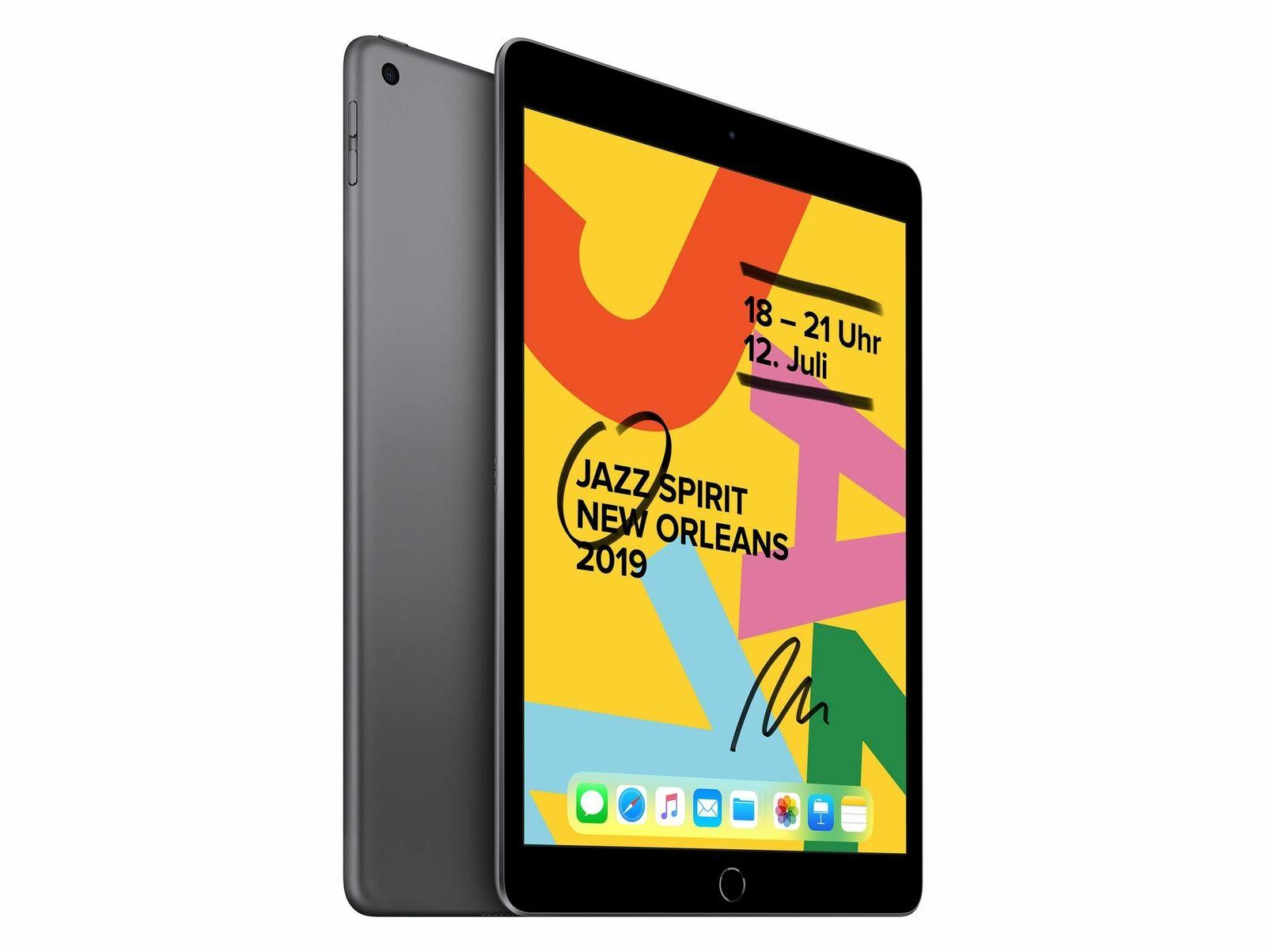 Apple iPad (2019), mit WiFi, 128 GB, space grau
