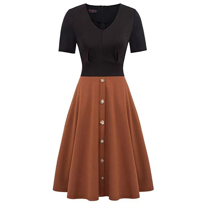 Damen Kleid Vintage 1950s