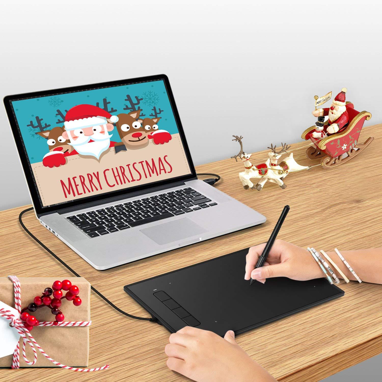 INTEY Einsteiger Grafiktablett 5080 LPI Elektromagnetische Induktion Malerei und Design Zeichenstift
