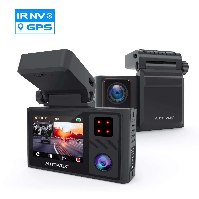 AUTO-VOX Dashcam Auto Vorne und Hinten mit eingebautem GPS