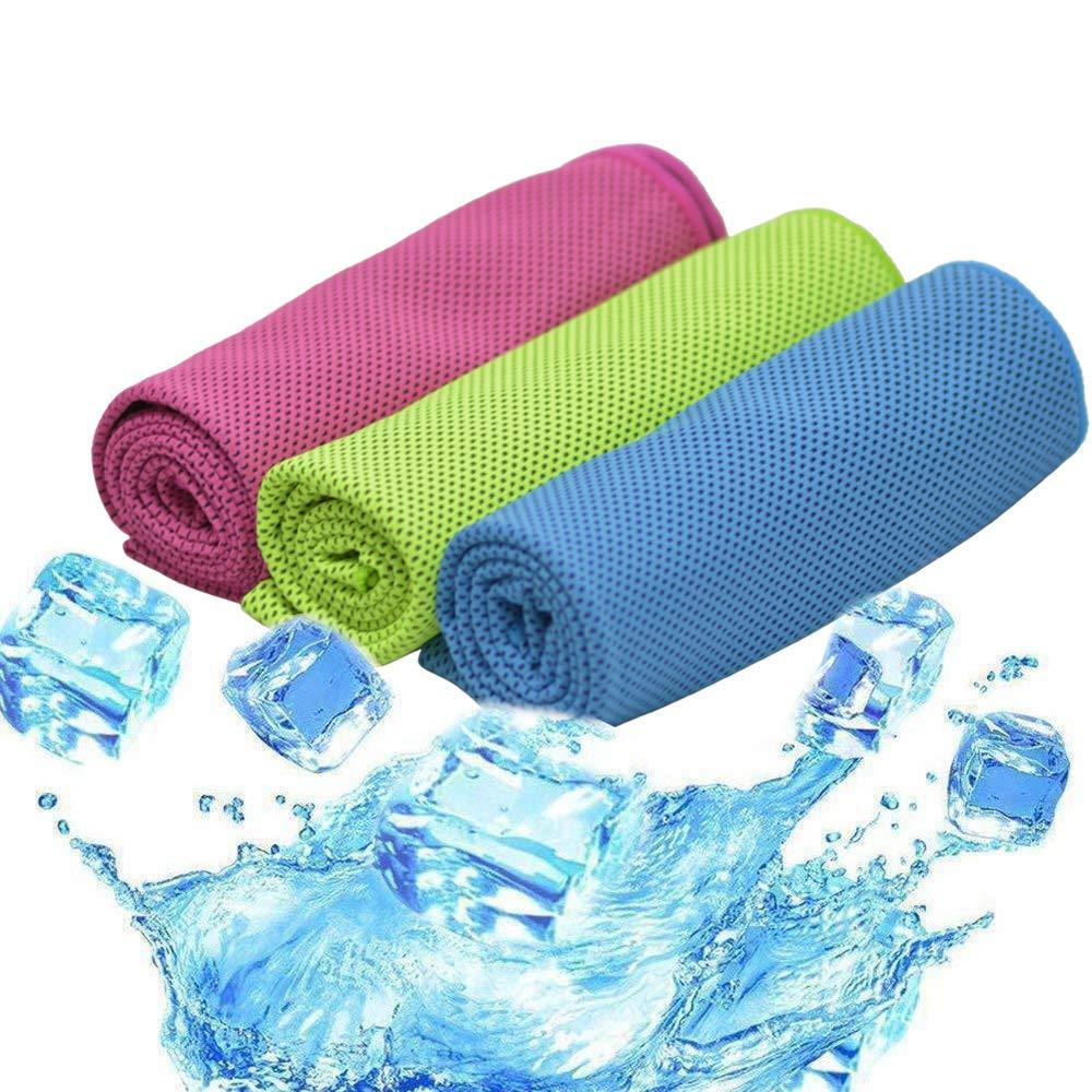 TEQStone 3 Pack Kühlendes Handtücher Mikrofaser Handtuch Set