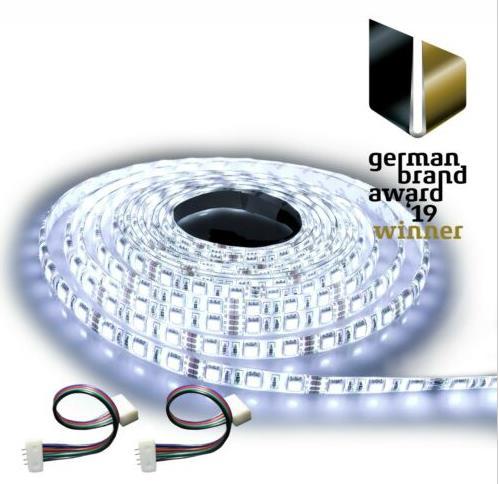 NINETEC 5m Stripe 60 LED pro Meter Warmweiß oder Kaltweiß