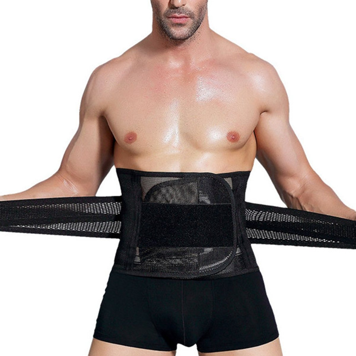 Slimerence Rücken Fitnessgürtel, Atmungsaktiv Waist Trimmer Taille Trainer