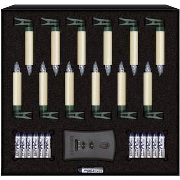 Weihnachtsbaum LED-Kerzen 75422 12er-Set Elfenbein