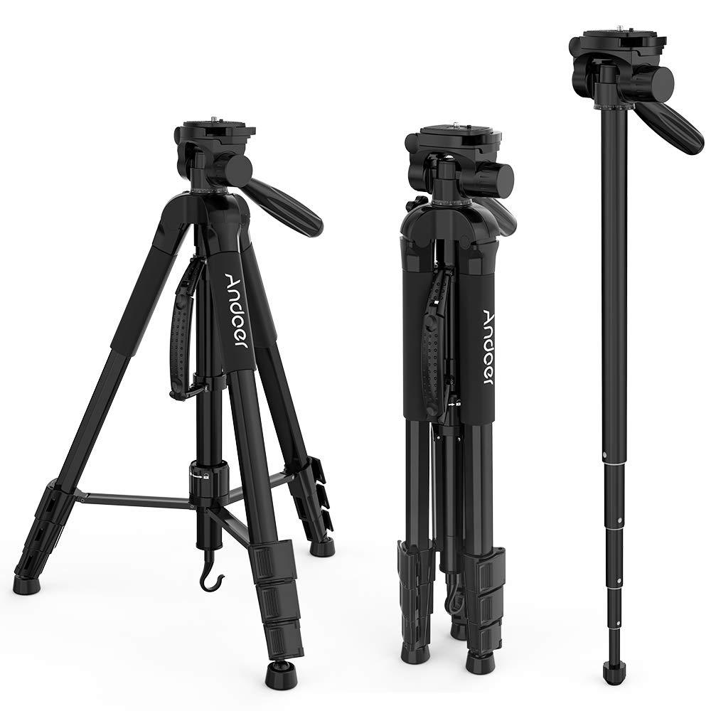 Andoer Professionelle Fotokamera Stativ Aluminiumlegierung