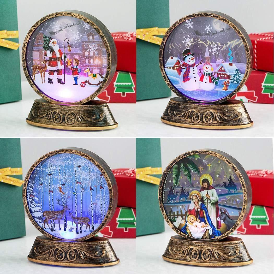 MelysEU Weihnachtsplastikschneemann Santa Xmas Decorations Lamp Christbaumschmuck