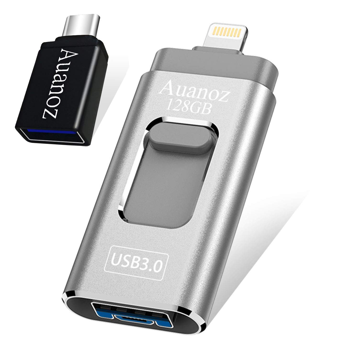 USB-Stick 128G, Auanoz iPhone-Stick Compatible with iPhone X