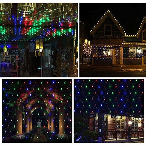 VINGO 3 * 2M LED Lichternetz Lichterkette mit 204 LEDs Weihnachten