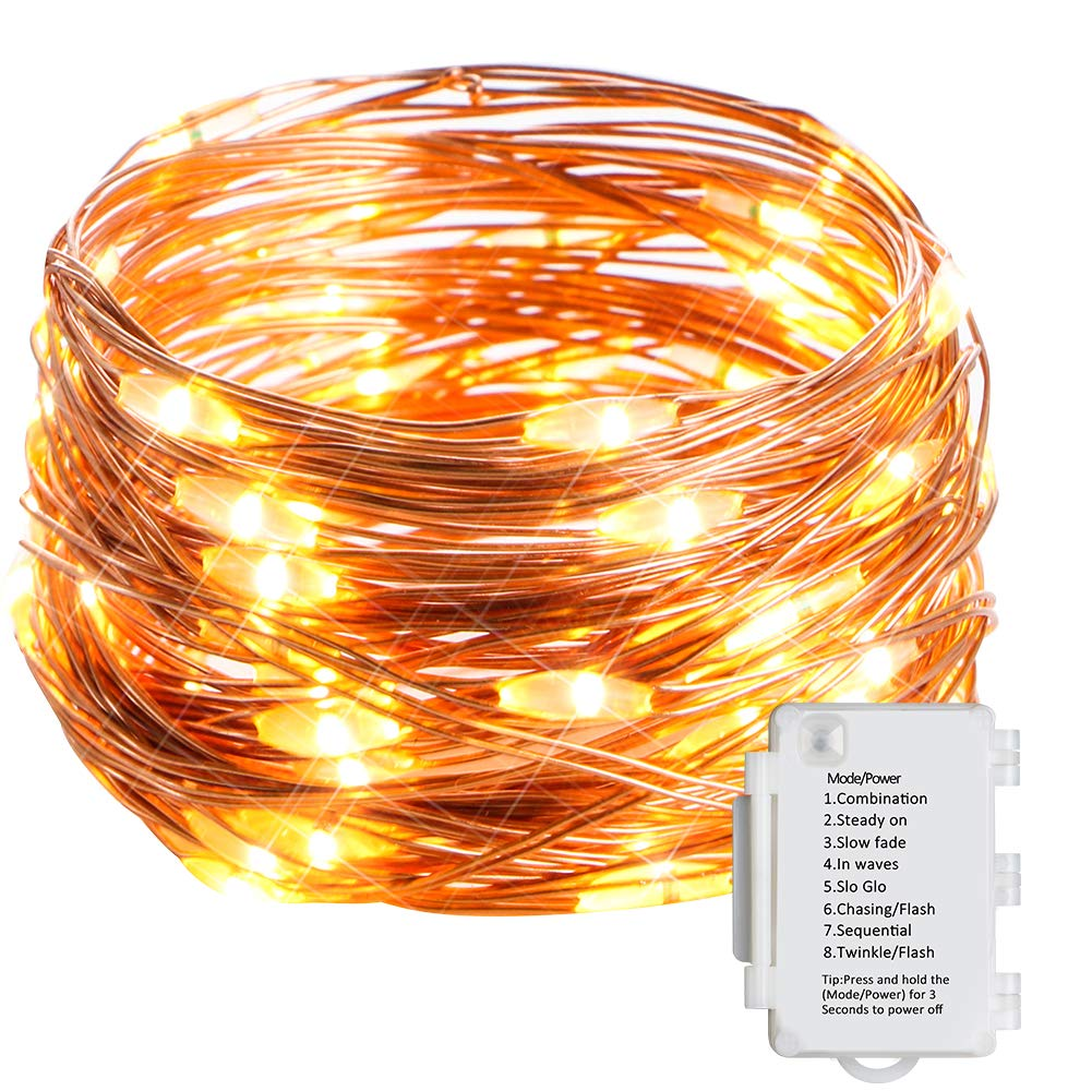 Starker 5M 50er LED Lichterkette, 8 Modi TIMER IP65 Wasserdicht Lichterketten