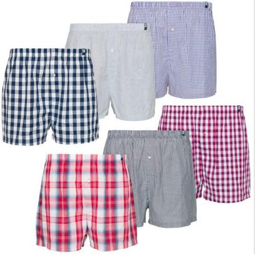 Maat Mons Herren Boxershorts Unterwäsche Unterhose 6er Pack aus Baumwolle M-4XL