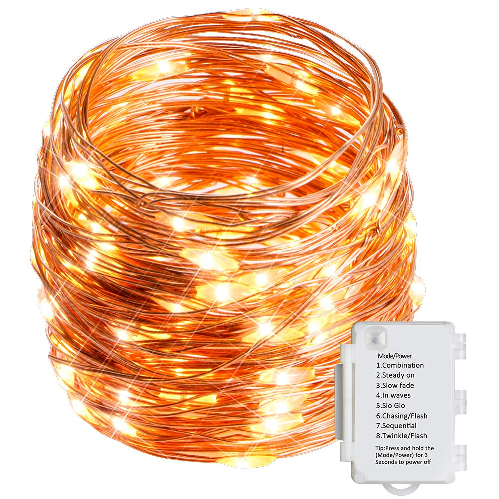 Starker 10M 100er LED Lichterkette, 8 Modi TIMER IP65 Wasserdicht Lichterketten