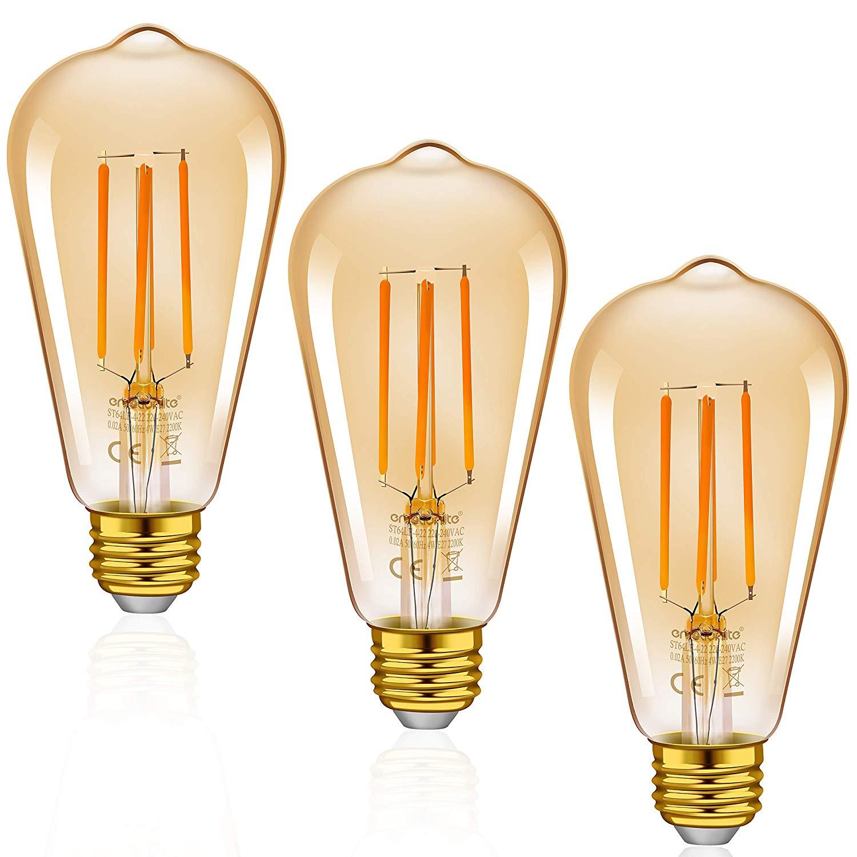 Emotionlite E27 LED Vintage Lampe,LED Filament Glühlampen