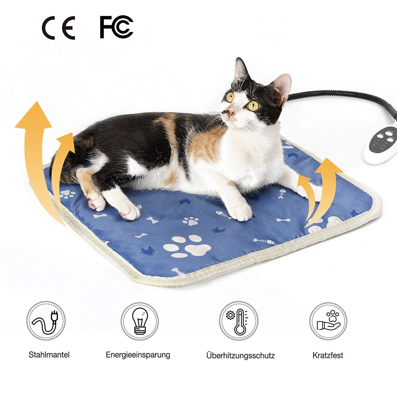 Haustier Heizkissen Wärmedecke für Katzen + Hunde