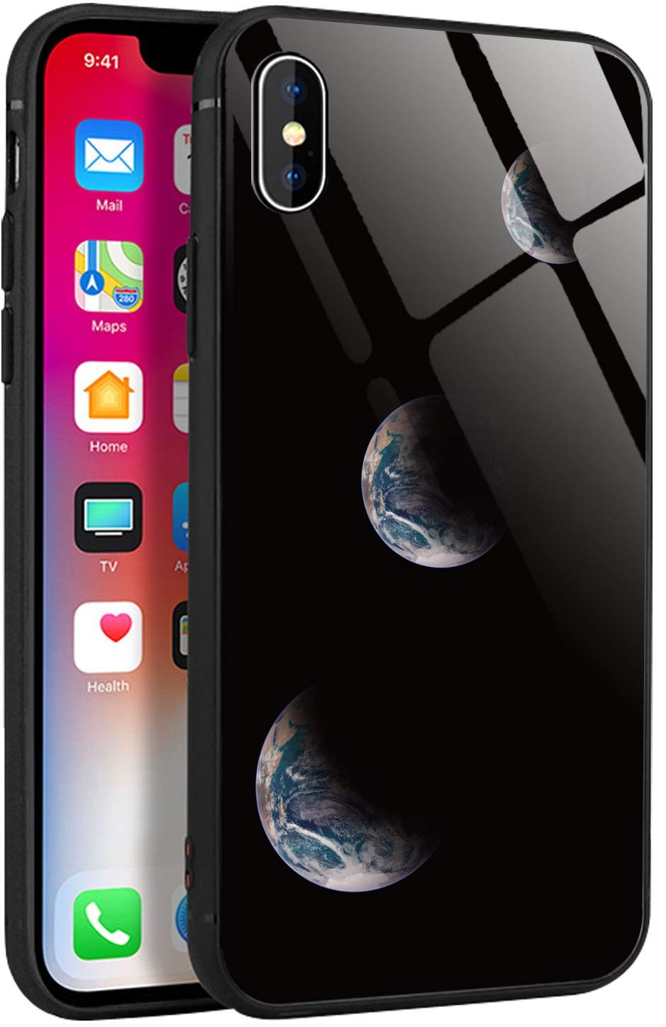 Eclipse Handyhülle kompatibel mit iPhone,Tempered Glass Back Phone case (iPhone X/XS, iPhone 7/8 & iPhoneXR)