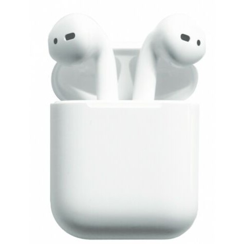 Apple AirPods 2 Generation In-Ear Headset white + Ladecase Bluetooth NEU! WOW